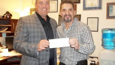 Inner Visions Cheque Presentation