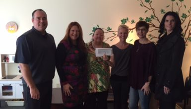 Alisa's Wish Cheque Presentation